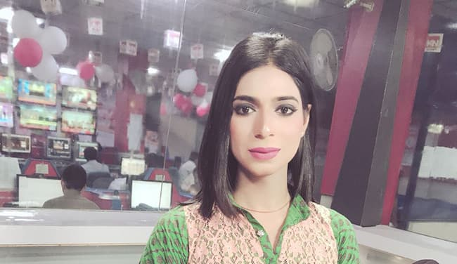 Pakistani news anchor Marvia Malik