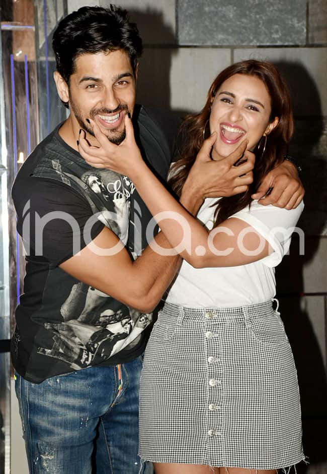 Parineeti and Siddharth goof around