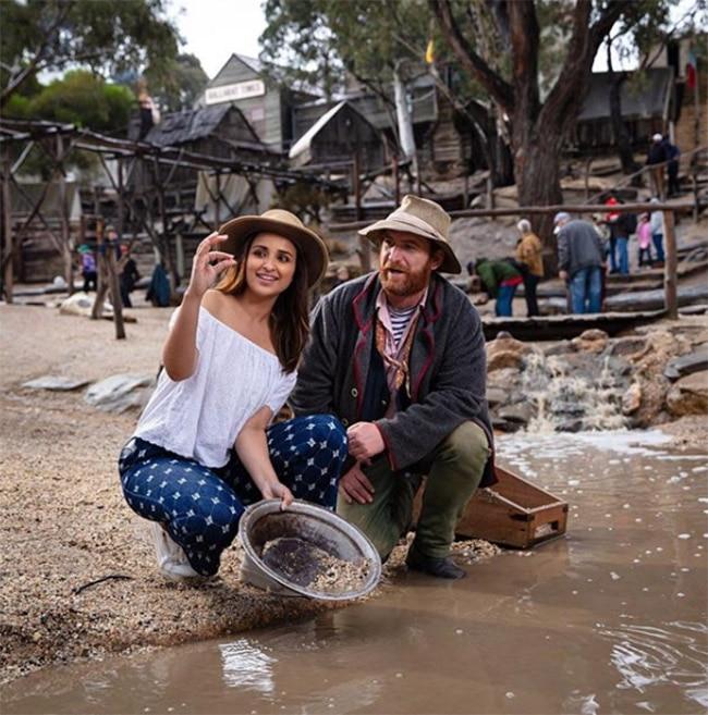 Parineeti Chopra trying gold mining in Australia