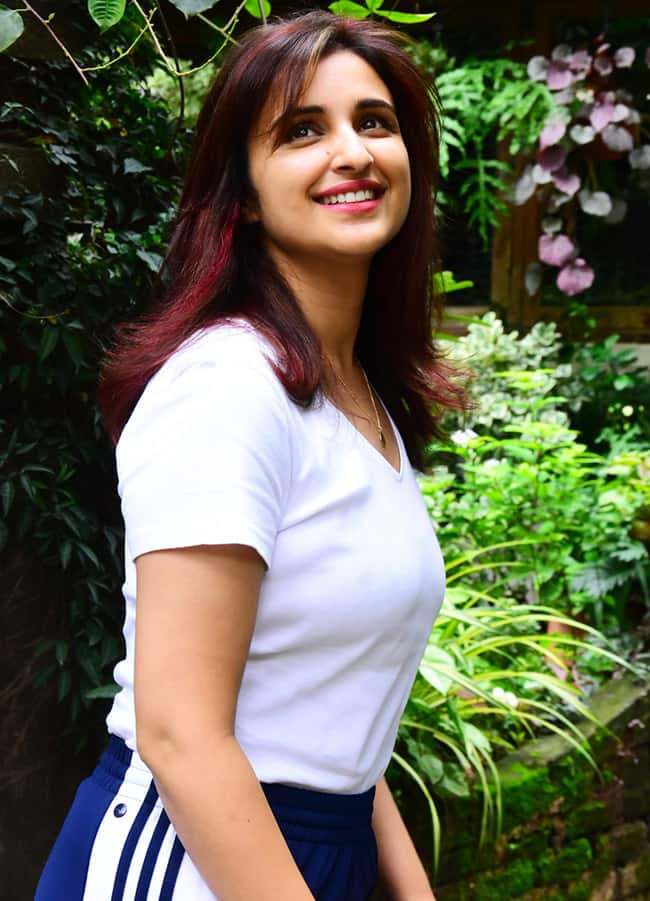 Parineeti sports red highlights in her hair