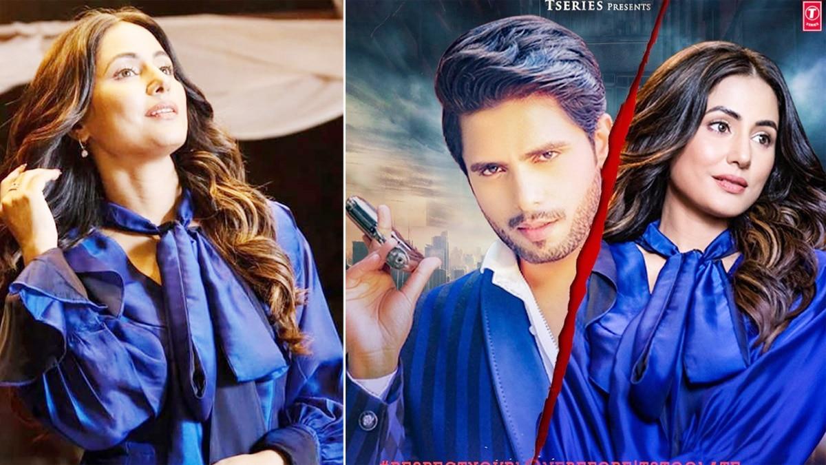 Patthar Wargi  Hina Khan is Sheer Elegance in This Royal Blue Dress