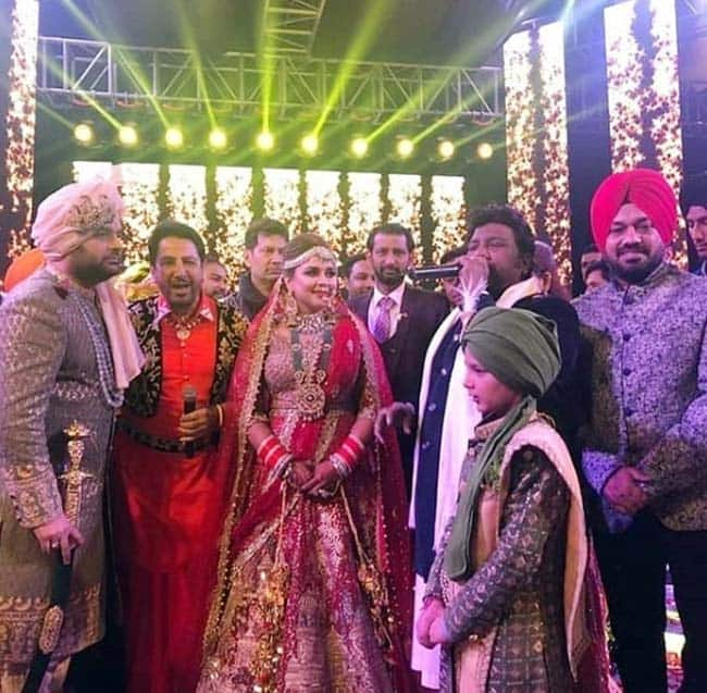 Pictures of Kapil and Ginni at the venue in Amritsar were shared on social media