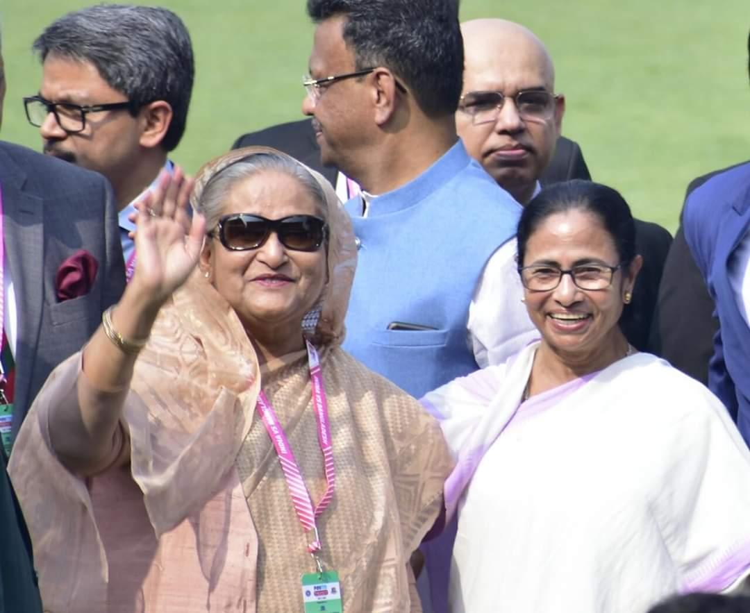 Pink Ball Test  When Shiekh Hasina Met Mamata Banerjee at Eden Gardens