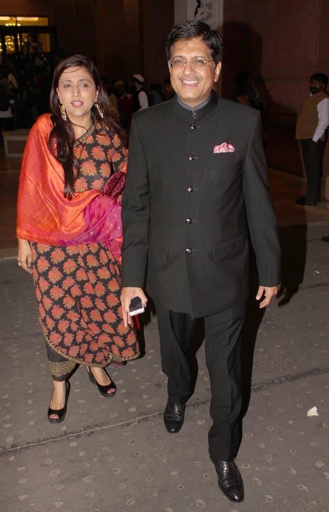 Piyush Goyal clicked during the Wedding ceremony of Rashtriya Janata Dal chief Lalu Yadav s daughter