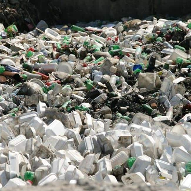 Plastic creates water and land pollution