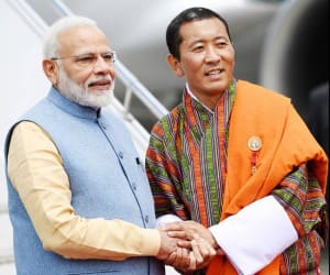 PM Modi Arrives in Bhutan, Receives Guard of Honour | See Pics