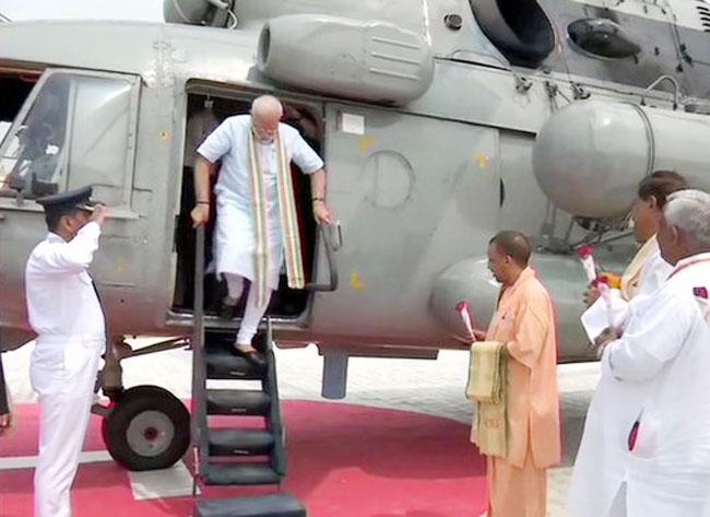 PM Reaches Mathura