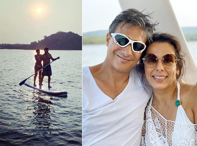 Pooja Bedi Stuns in Bikini as She Vacays With Fiance Maneck Contractor in Goa