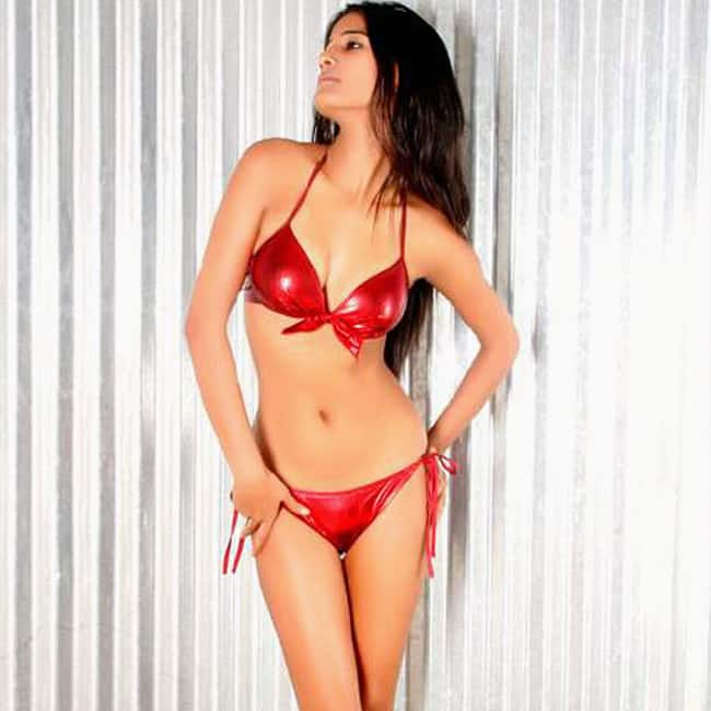 Poonam Pandey poses for a red hot picture