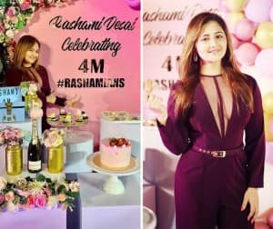 Rashami Desai Garners 4 Million Followers on Instagram, Shares Pics From Her Party