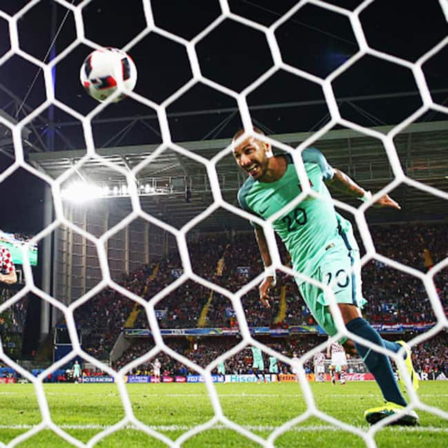 Portugal   s Ricardo Quaresma scores the first goal against Croatia in EURO 2016    Round of 16