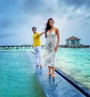 Love Birds Vatsal Sheth and Ishita Dutta Vacays in Maldives, Romantic Pictures Will Steal Your Heart
