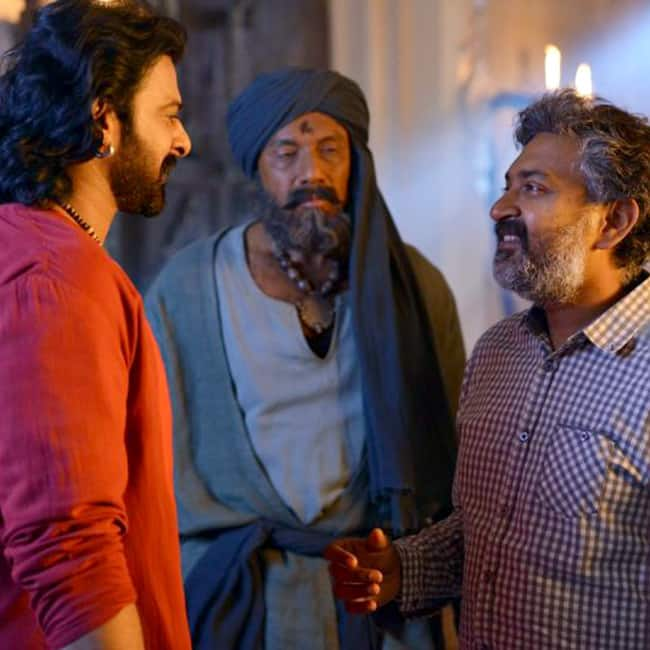 Prabhas with S S Rajamouli