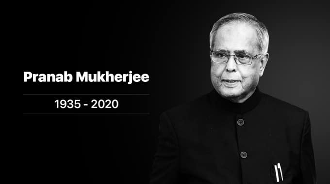 Pranab Mukherjee Passes Away on August 31  2020
