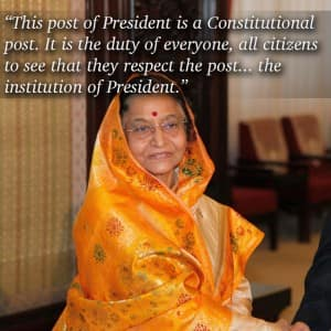 8 motivational quotes by India's first woman President Pratibha Patil