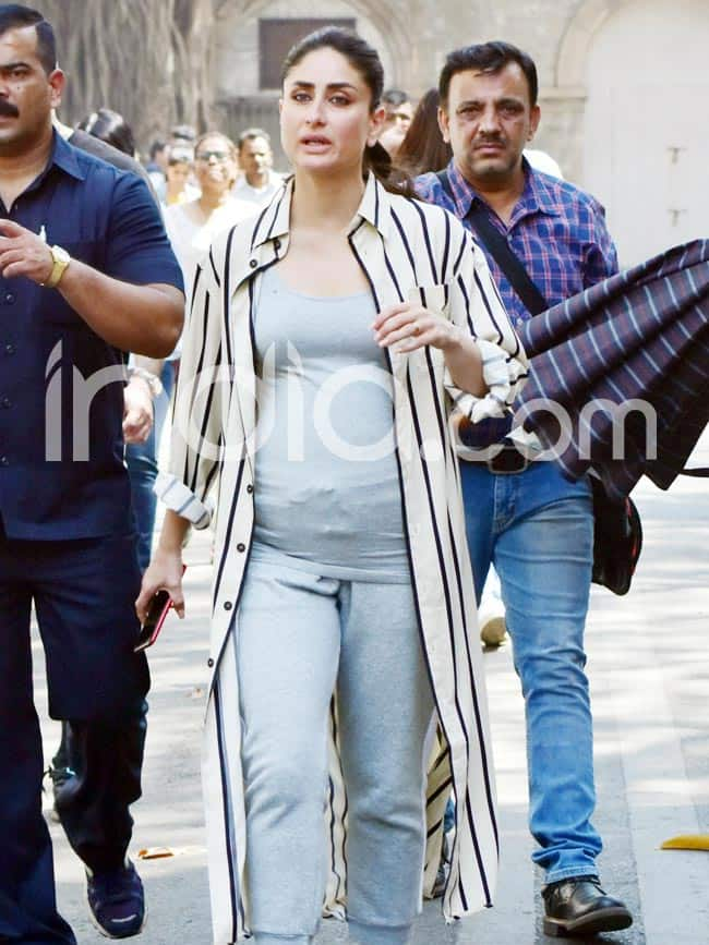 Pregnant Kareena Kapoor Khan Flaunts Baby Bump on The Sets of  Good News