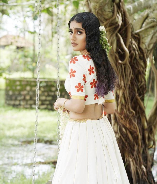 Priya Prakash Varrier flaunts her beautiful lehenga that she wore for Onam