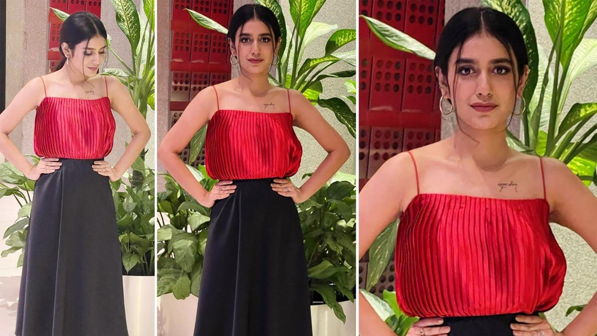 Priya Prakash Varrier looks gorgeous in this super hot red top     See  photos