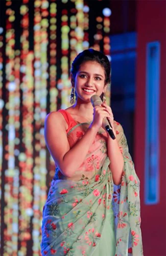 Priya Prakash Varrier Looks Impeccably Gorgeous in Green Saree