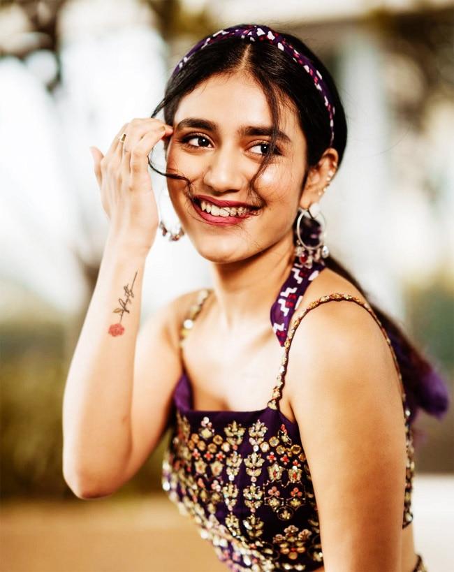 Priya Prakash Varrier Looks Stunning In Purple Lehenga Look