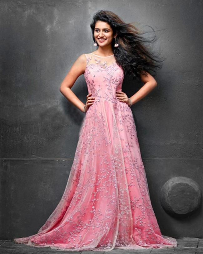 Priya Prakash Varrier poses for a clothing  brand shoot
