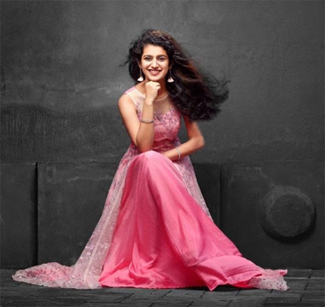 Priya Prakash Varrier posing for a shoot