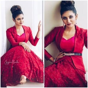 Priya Prakash Varrier's Latest Photoshoot Pictures in Red is to Die For - See Pics