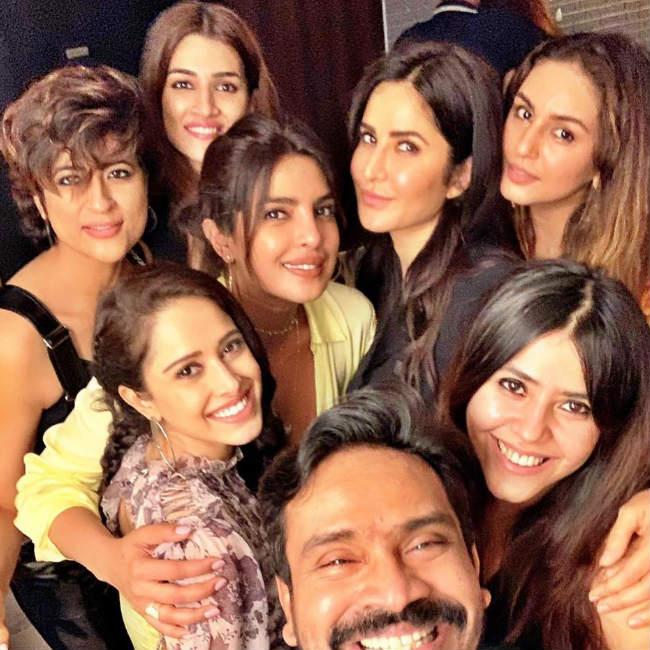 Priyanka Chopra and Katrina Kaif party together