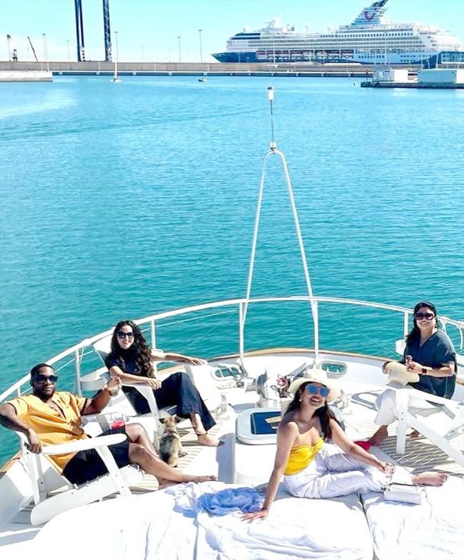Priyanka Chopra Chills On a Yacht In Spain
