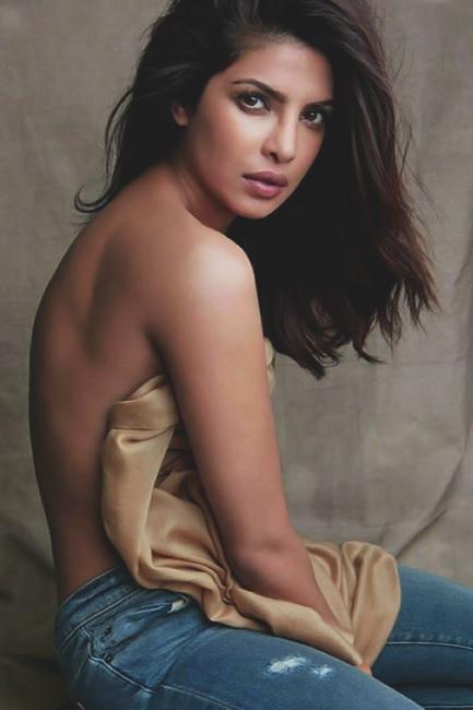 Priyanka Chopra flaunts her bare back during the shoot