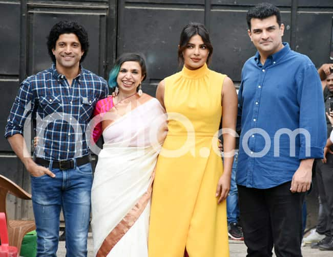Priyanka Chopra Looks Gorgeous in Sunshine Yellow Dress And White Pumps