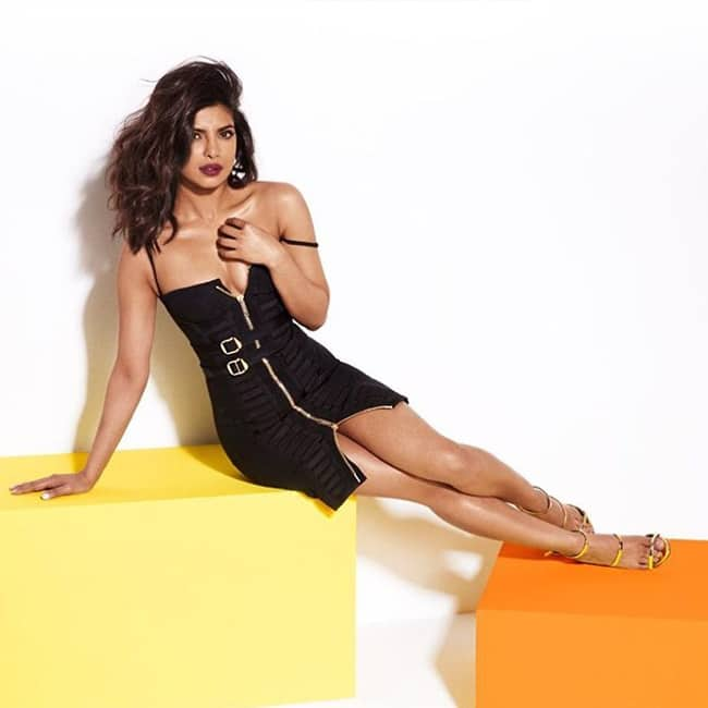Priyanka Chopra poses for a black hot picture