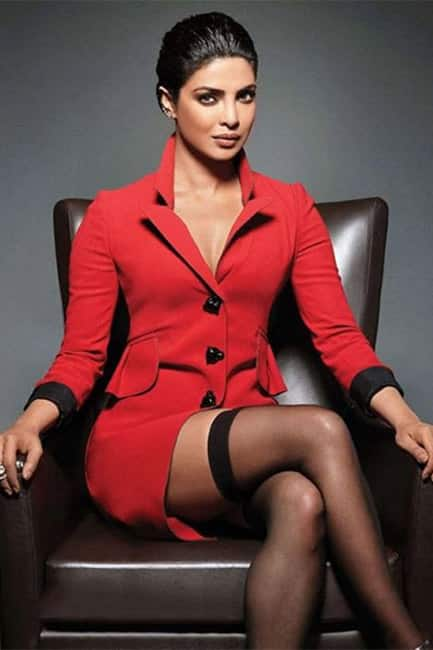 Priyanka Chopra poses for a red hot picture