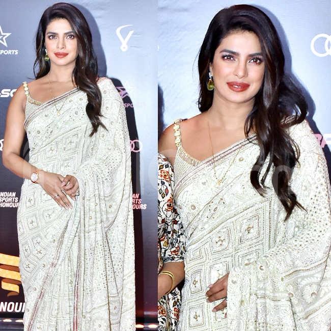 Priyanka Chopra s latest saree look
