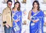 Priyanka Chopra Wears Blue Handwoven Saree by Masaba X Ekaya at Umang 2020 And Looks Ravishing