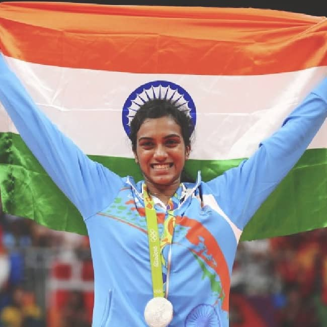 PV Sindhu won Silver medal during Rio Olympics 2016