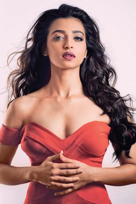 Radhika Apte shows off cleavage in red hot outfit