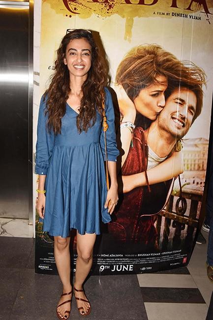 Radhika Apte snapped during Raabta screening