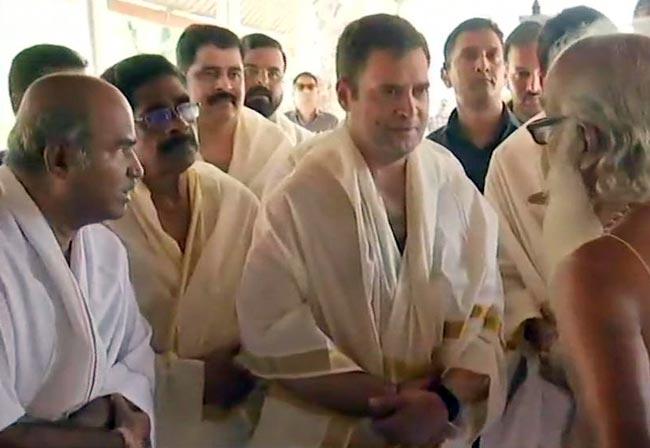Rahul arrives in Wayanad