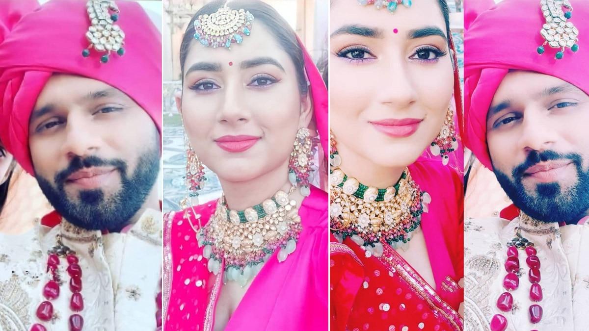 Rahul Vaidya Disha Parmar dresses up as a groom and a bride