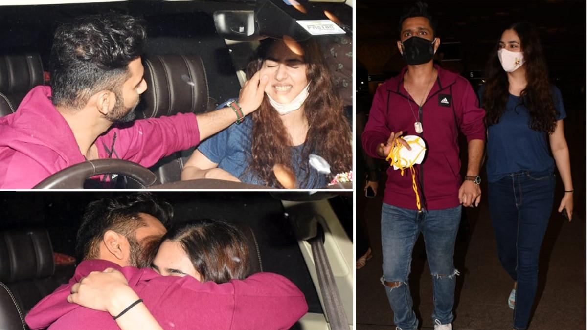 Rahul Vaidya kisses Disha Parmar before leaving for Khatron Ke Khiladi 11