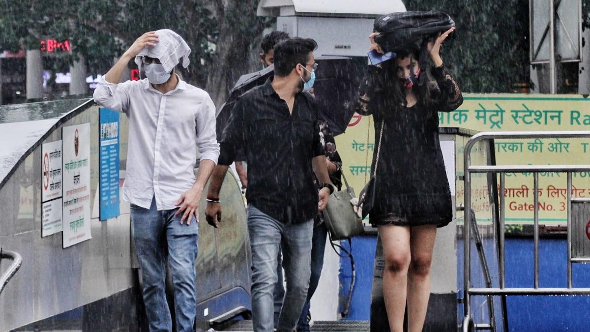 Rain Drenches Delhi