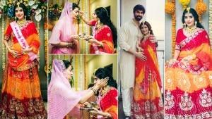Charu Asopa's Baby Shower Pics: Sushmita Sen Blesses Her Bhabhi, Celebrates Raksha Bandhan With Rajeev Sen   See Pics