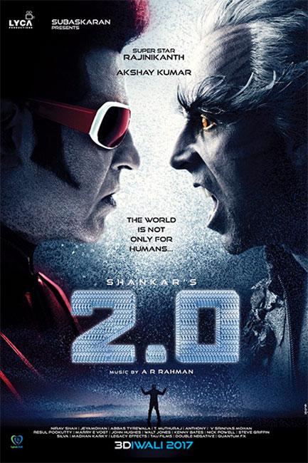 Rajinikanth and Akshay Kumar together on poser Robot 2 0