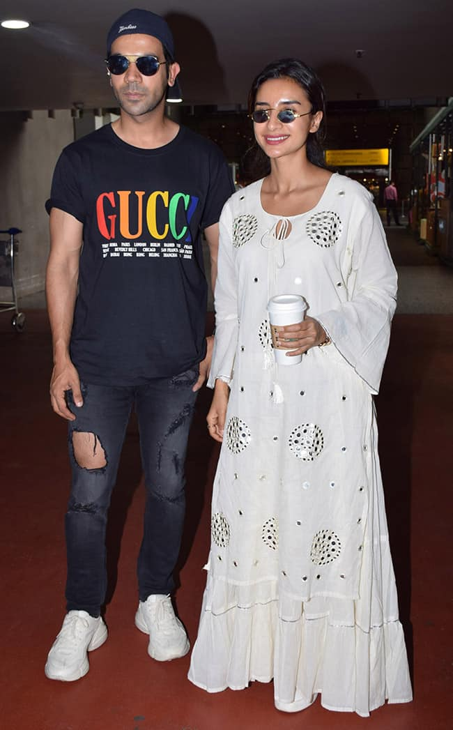 Rajkummar Rao and Patralekha Paul look cool as they are spotted at the airport