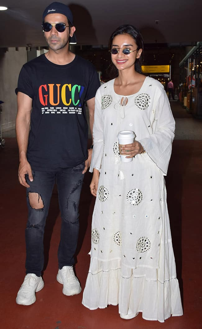 Rajkummar Rao and Patralekha Paul look good as they are spotted at the airport