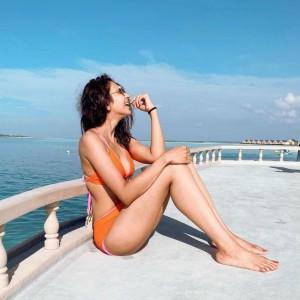 Rakul Preet Singh, in Orange Bikini, Looks The Brightest Ray of Sunshine in The Maldives
