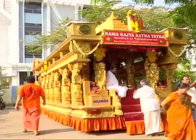 Rama Rajya Ratha Yatra reaches Madurai