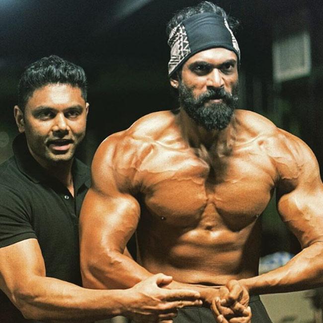 Rana Daggubati shows off his stronger body for  Bahubali 2