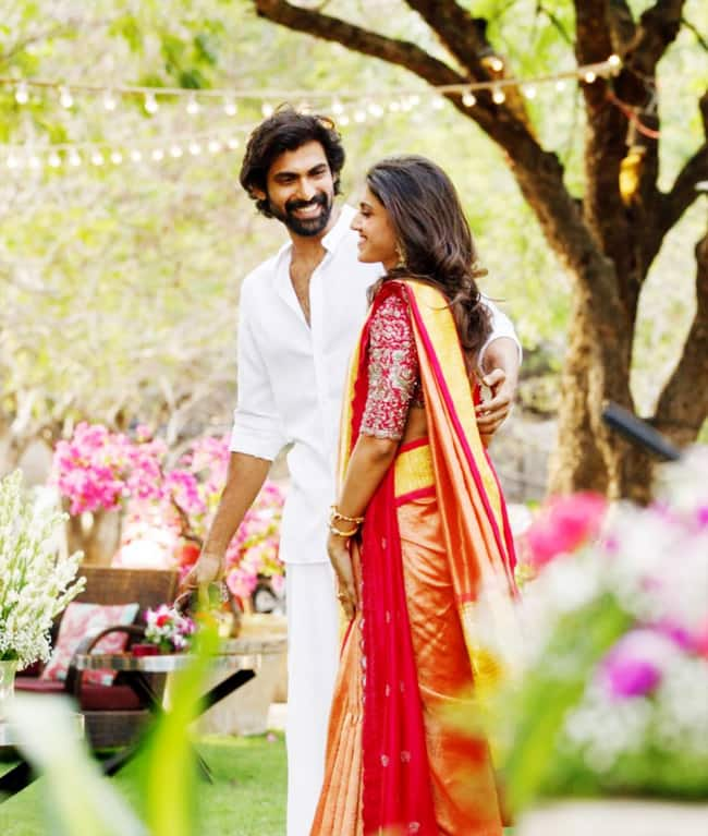 Rana Daggubati wears a white shirt and lungi for the ceremony